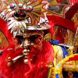 En el carnaval de Oruro se mezcla lo aborigen, lo europeo y lo chino.