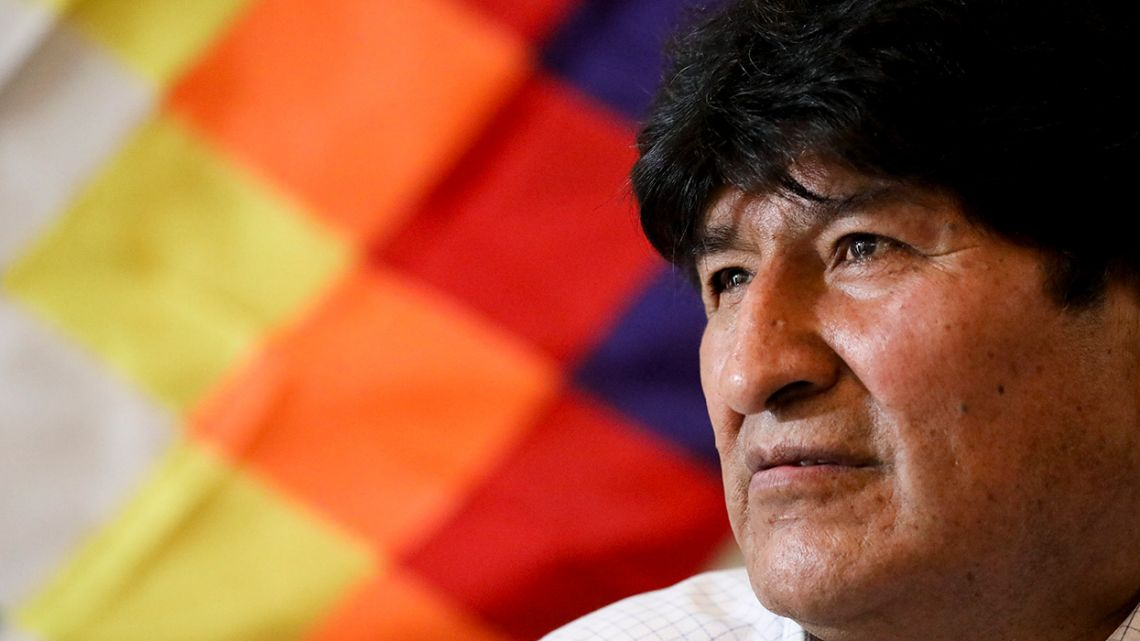 Former Bolivia President Evo Morales, pictured at a press conference in Buenos Aires.