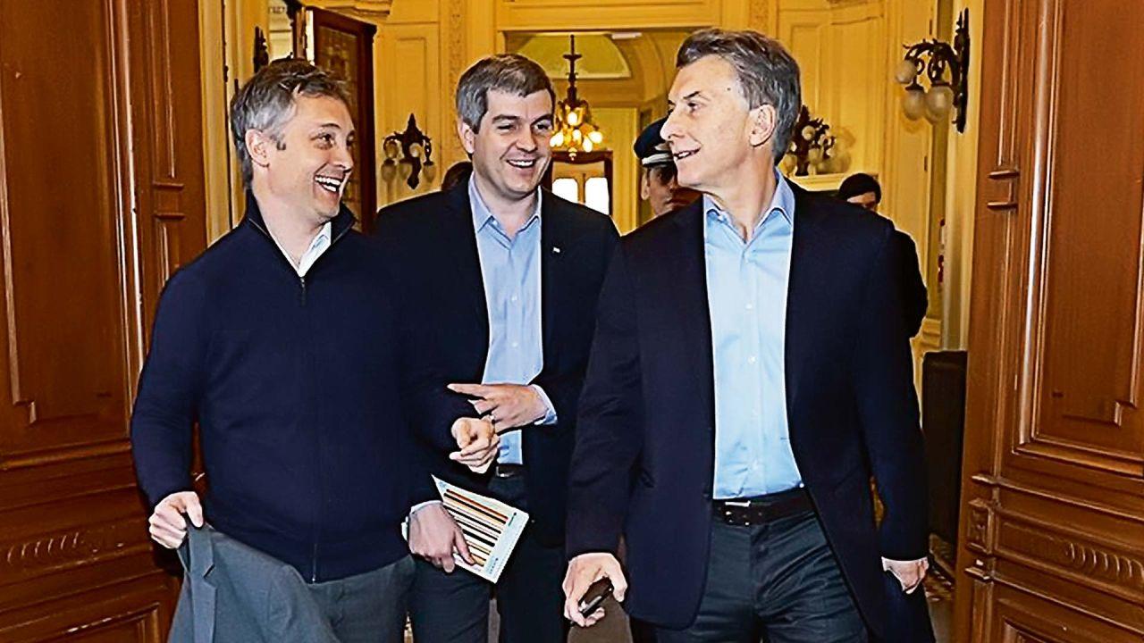 Fernando de Andreis, Marcos Peña y Mauricio Macri | Foto:cedoc