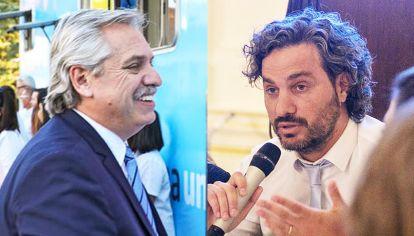 Alberto Fernandez - Santiago Cafiero. El Presidente negó el anuncio del jefe de Gabinete de que en junio subirían la luz y  el gas.