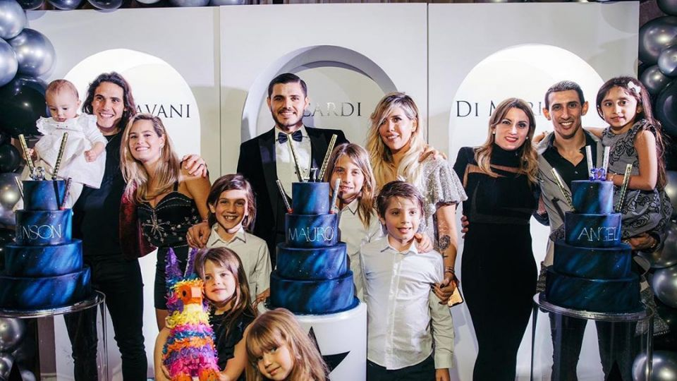 Toda la intimidad del cumpleaños de Icardi, Di María y Cavani