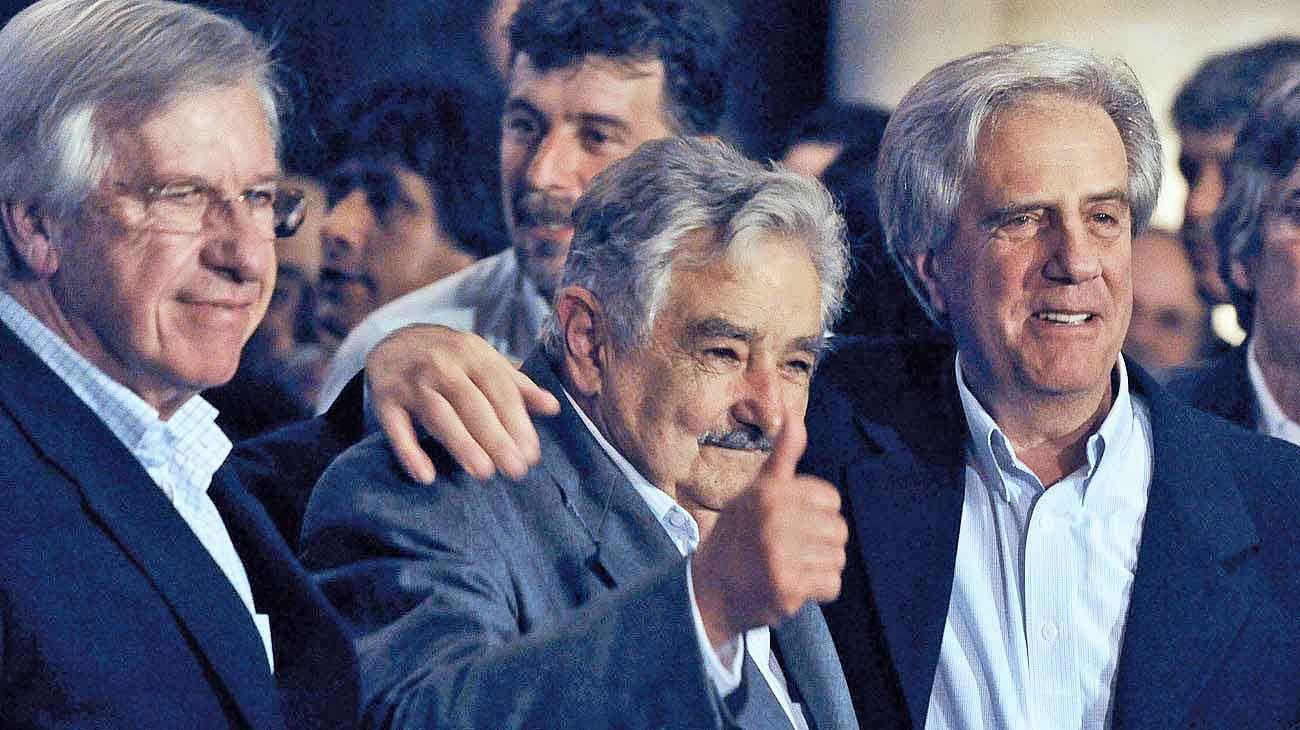 Tridente. Daniel Astori, José Mujica y Tabaré Vázquez hicieron culto de la unidad en la diversidad.