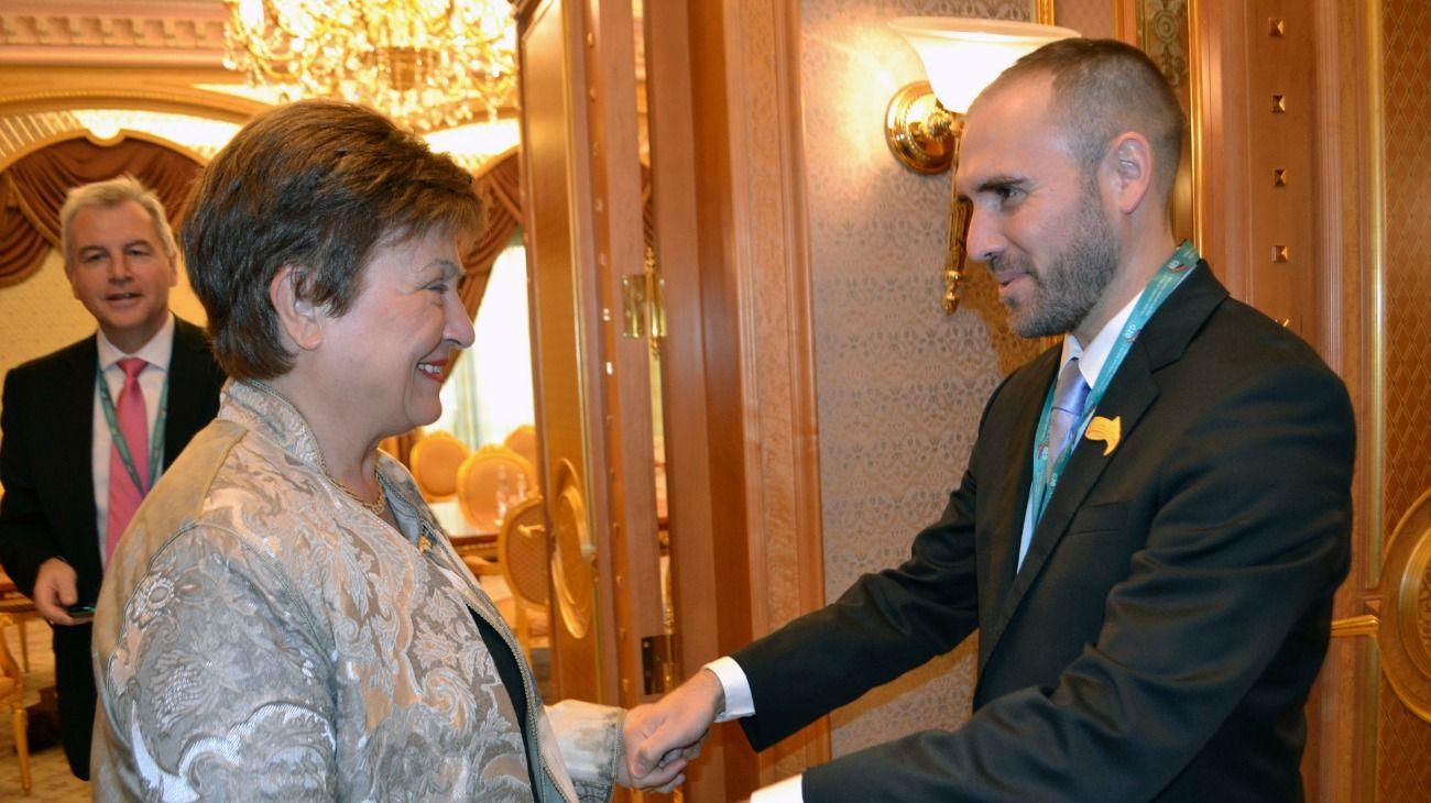El ministro de Economía, Martín Guzmán, y la titular del organismo, Kristalina Georgieva.