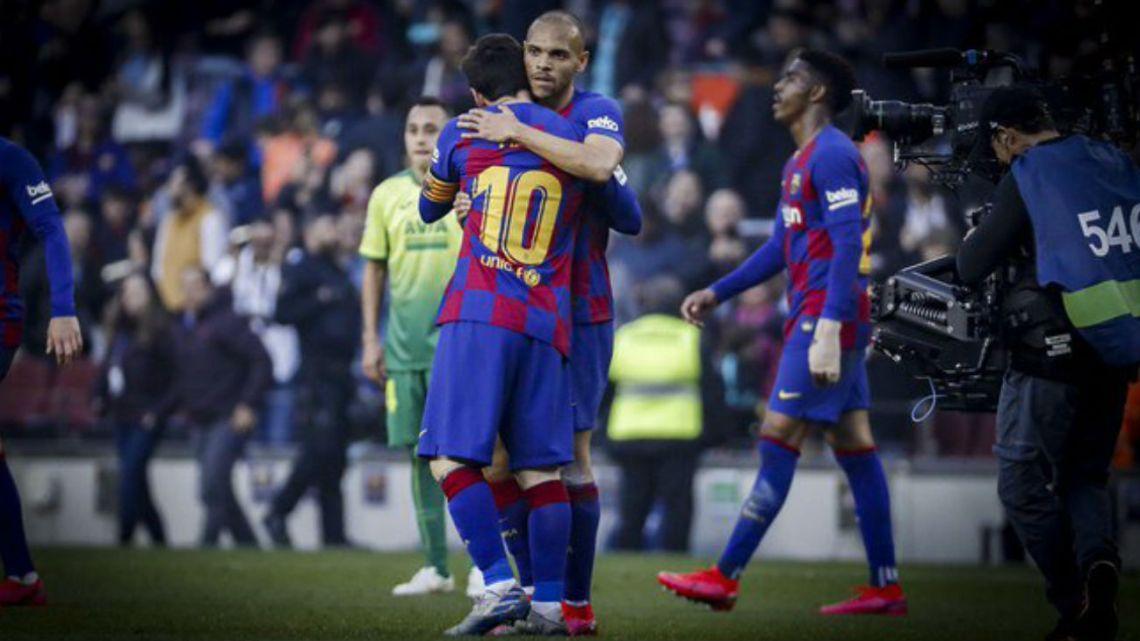 "Martin Braithwaite: ""No voy a lavar la ropa con la que abracé a Messi"""