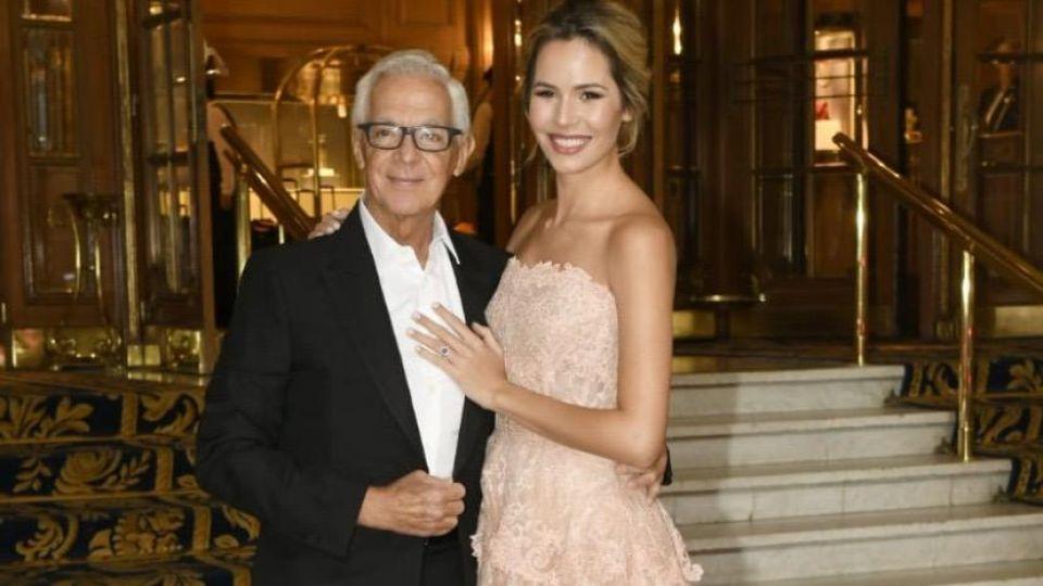 Eduardo Costantini y Elina Fernández en su casamiento