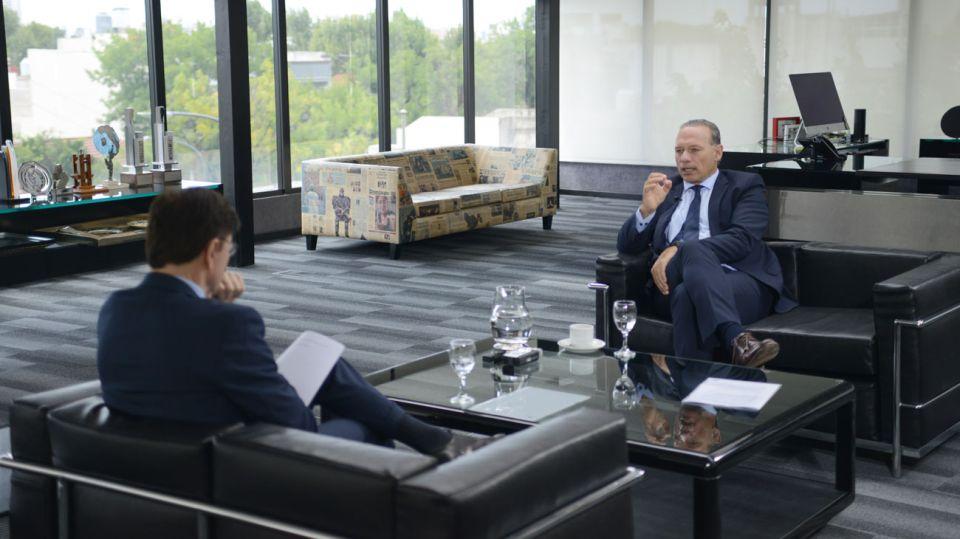 Sergio Berni, en la entrevista con Jorge Fontevecchia.