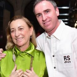 Raf Simons junto a Miuccia Prada.