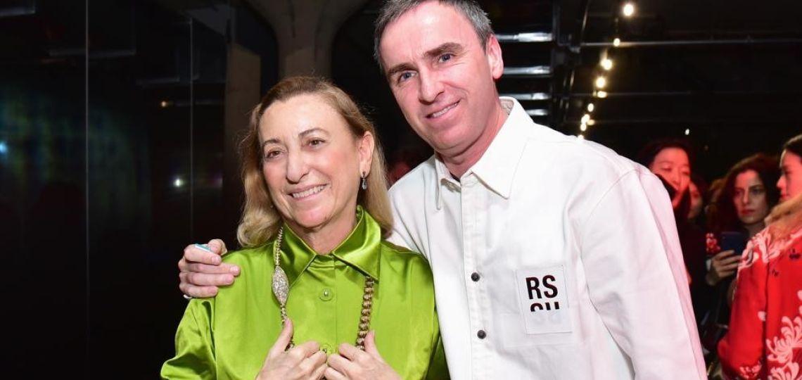 Raf Simons y Miuccia Prada, el nuevo dúo estelar de la Alta Costura