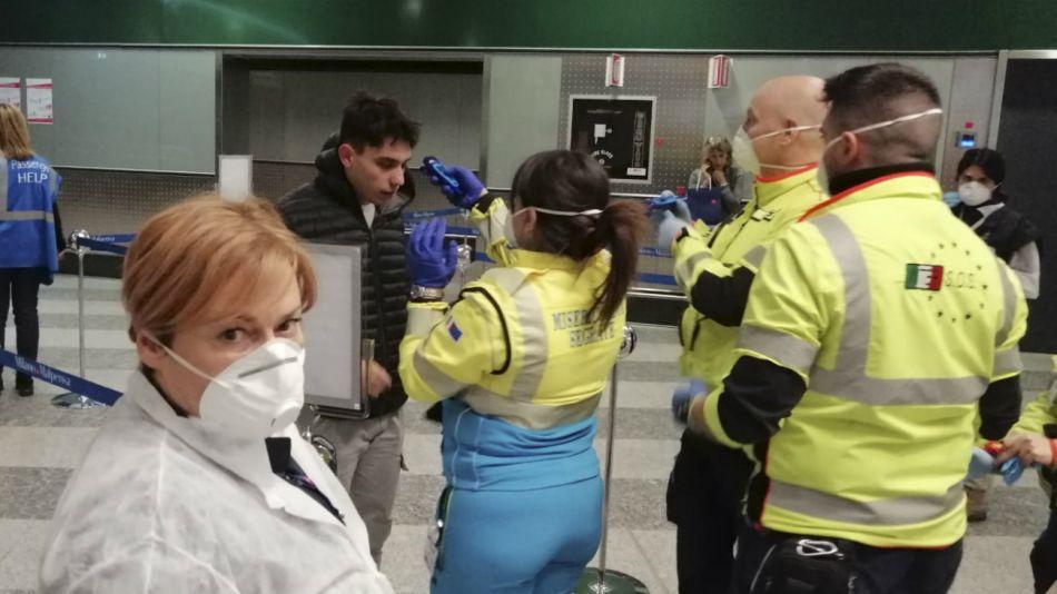 Aeropuerto de Ezeiza. Controles por coronavirus.