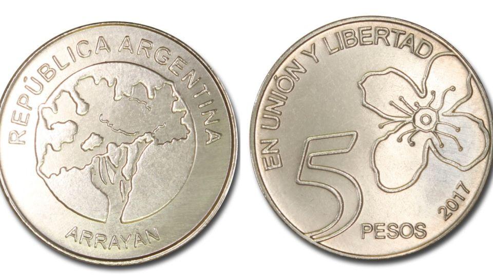 monedas cinco pesos 02262020