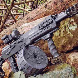 Hoy la tendencia en escopetas policiales/militares se inclina a buscar mayor capacidad de cartuchos o facilidad de recarga.