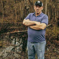 Troy Landry llegó a Luisiana con su familia proveniente de Nueva Escocia (Canadá), es de los más antiguos de la zona.