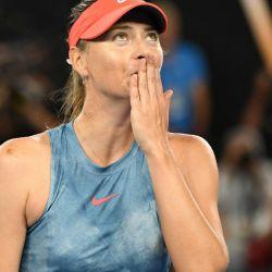 Maria Sharapova anunció su retiro del tenis. La rusa fue número uno del mundo y ganó cinco Grand Slams. // AFP