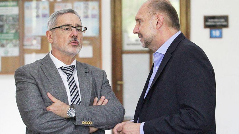 Marcelo Saín y Omar Perotti