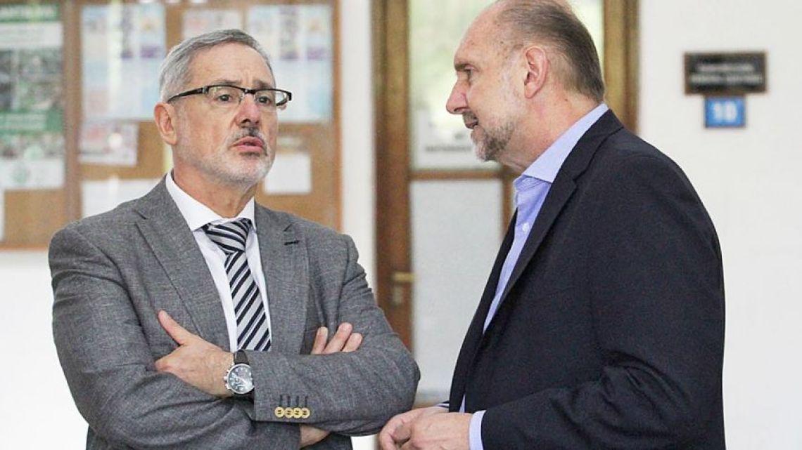 Marcelo Saín con Omar Perotti | Foto:Cedoc
