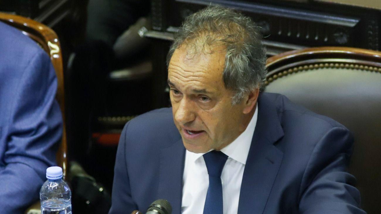 Daniel Scioli asistió a la sesión en Diputados y el oficialismo logró el quórum