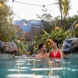 Hanmer Springs Thermal Pools & Spa, una popular atracción familiar y el spa alpino más grande de Nueva Zelanda.