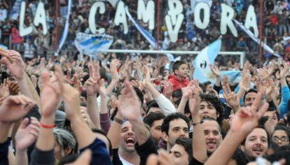 Militantes de La Campora en la asunción de Fernández.
