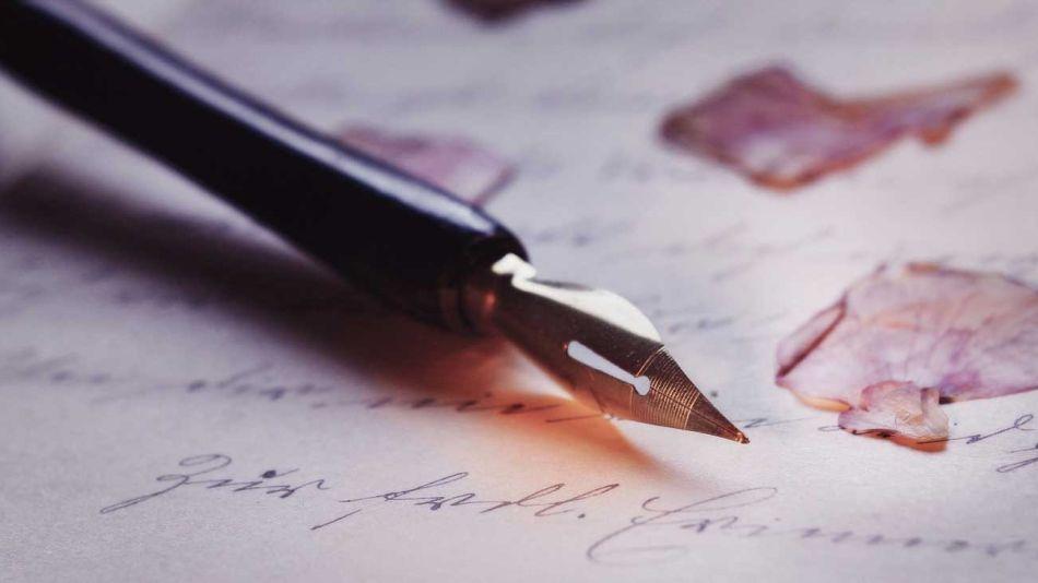 Pluma escritura escribir texto