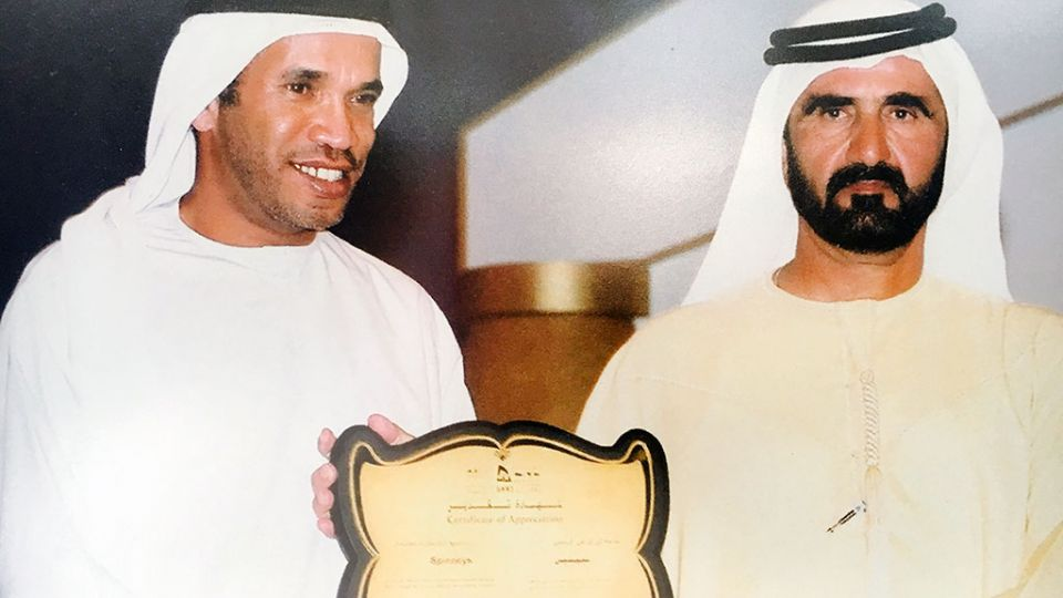 Alí Saeed Albwardy y Mohamed bin Rashid Al Maktum