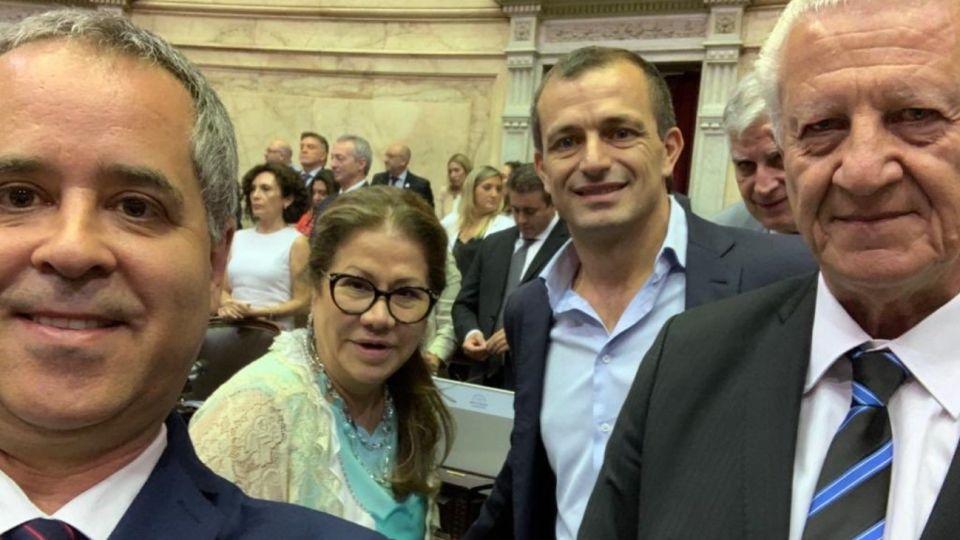 Alejandro Rodríguez, Graciela Camaño, Eduardo Bucca y Jorge Sarghini.
