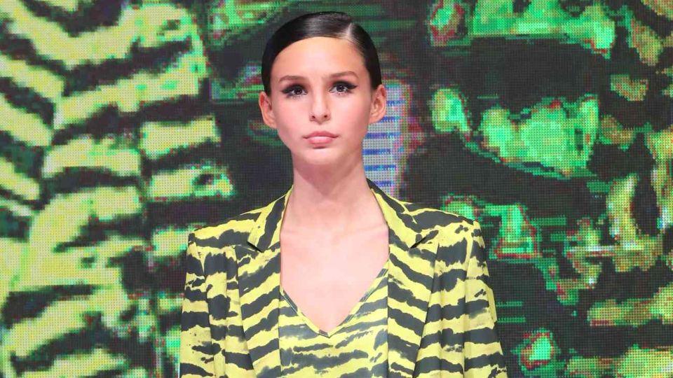 Juanita Tinelli debutó como modelo