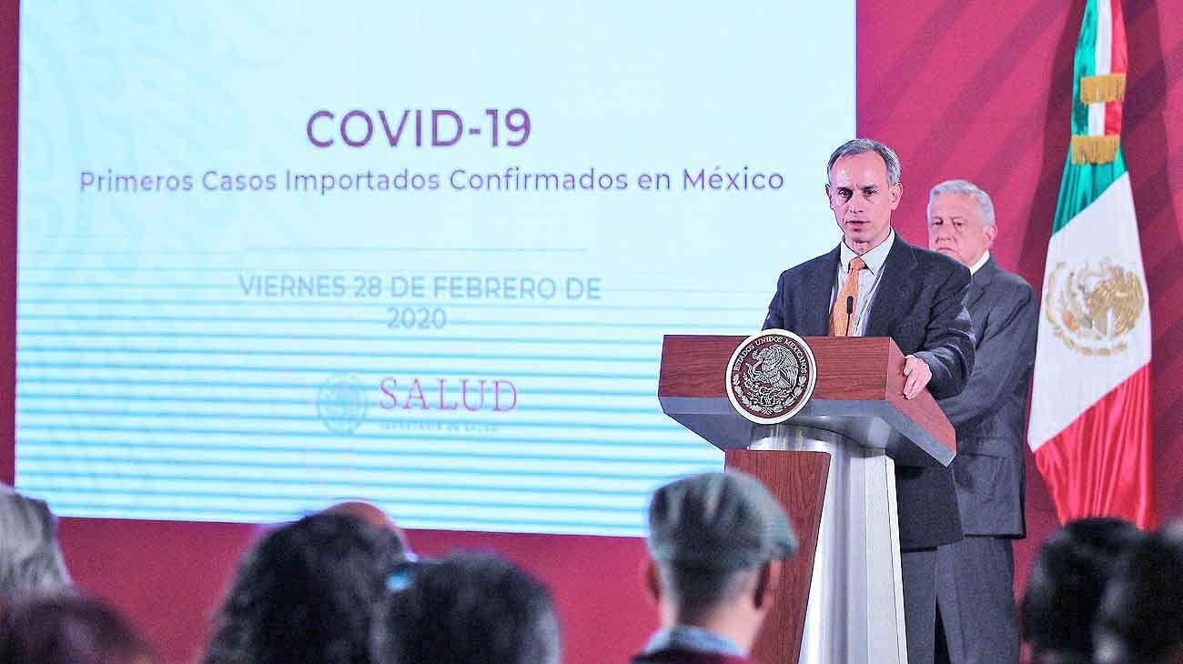 Anuncio. Hugo López-Gatell, de la Secretaría de Salud mexicana, confirma los casos detectados.