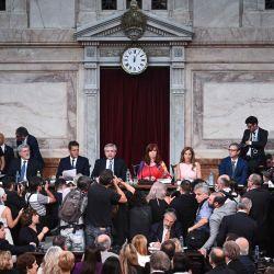 Alberto Fernández en el Congreso | Foto:Gentileza: Senado