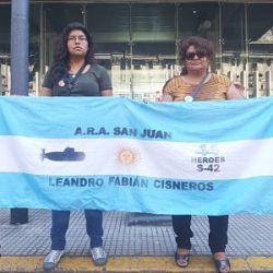 Congreso. Familiares de Leandro Cisneros, tripulante del ARA San Juan.   Foto:CEDOC.