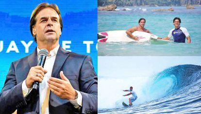 Renovación. Lacalle Pou asume con la promesa de cambiarle la cara a su fuerza, el tradicional Partido Nacional. Es un surfista experto y practica el deporte cada vez que puede.