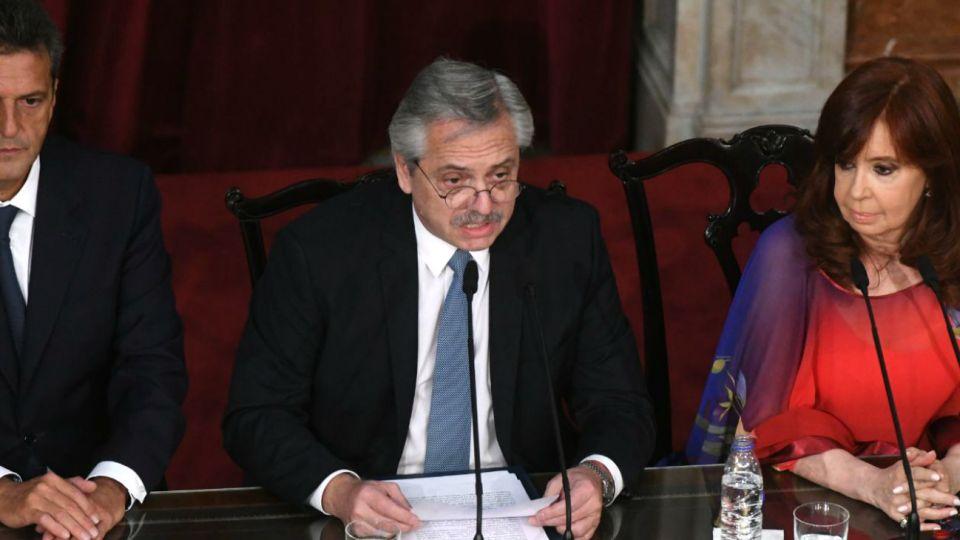 El presidente Alberto Fernández inauguró la sesiones ordinarias en el Congreso.
