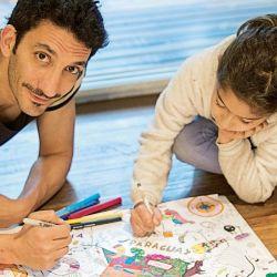 Juan Minujín tiene un emprendimiento con mapas para chicos.   Foto:Gentileza Atlantis