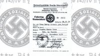 Portada del documento sobre el registro bancario nazi.