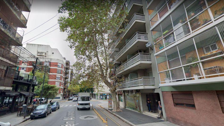 El incidente ocurrió en un edificio ubicado en la calle Julián Álvarez al 600.