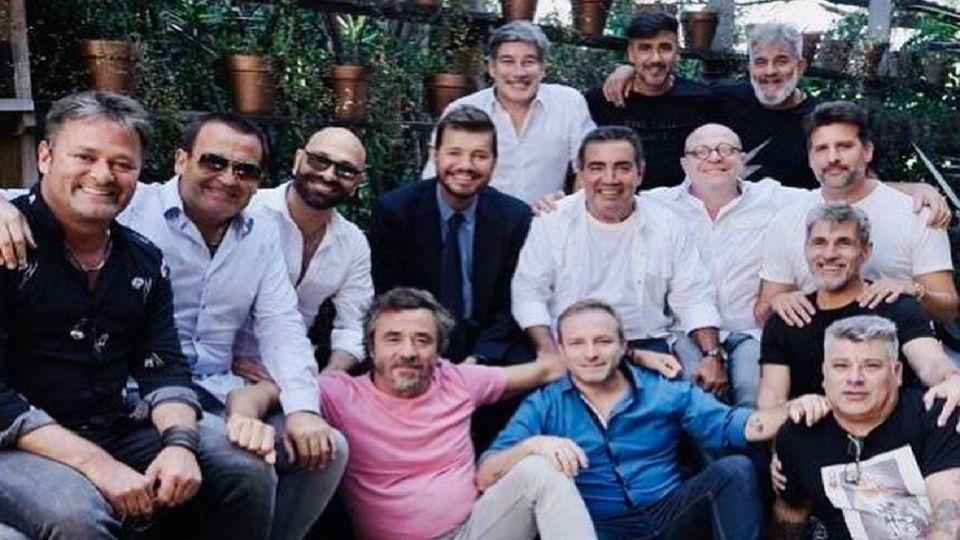 Marcelo Tinelli junto a los históricos humoristas de ShowMatch