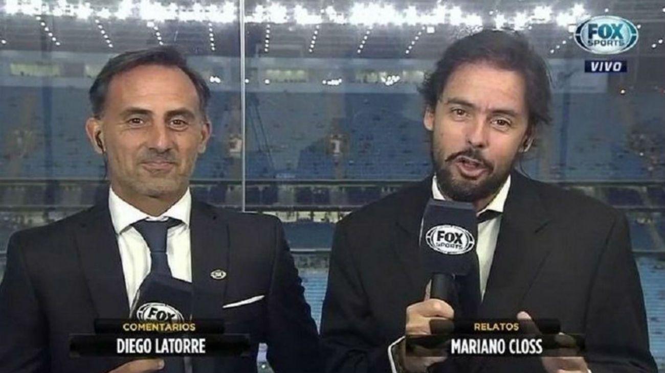 Mariano Closs y Diego Latorre, la dupla histórica de Fox.