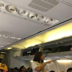 El vuelo, de apenas una hora y media, fue muy placentero.