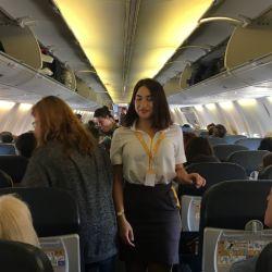 La cabina interna de los Boeing 747-800 es cómoda y todos los asientos tienen la misma categoría.