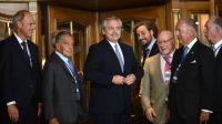 Alberto Fernández con empresarios de CICYP 20200304