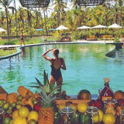 En la piscina Oasis-zen, en el sector solo para adultos hay un bar acuático y silencio total.