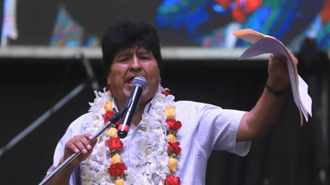 Ex-president Evo Morales has been a refugee in Argentina since December 12, where he often gives statements and attends public events.