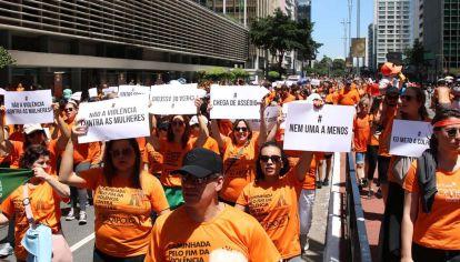 Caminata de mujeres en contra de la violencia, San Pablo