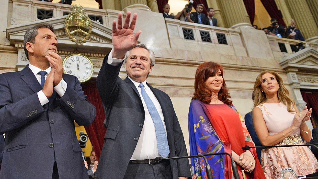 Congreso. El presidente Fernández en la aperturas de sesiones el 1° de marzo.