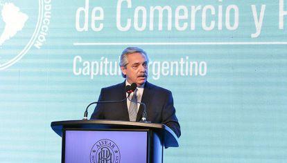 Frente. Fernández dijo que no habrá marcha atrás con la suba de retenciones al 33% para la soja.