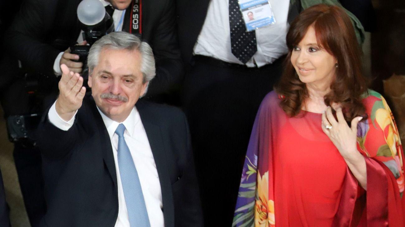 El presidente Alberto Fernández y su vice, Cristina Fernández de Kirchner.