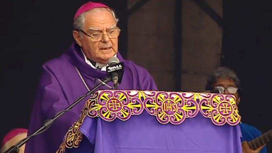 Monseñor Oscar Ojea, en la misa de Luján.
