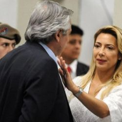 Fabiola Yáñez con Alberto Fernández | Foto:Cedoc.