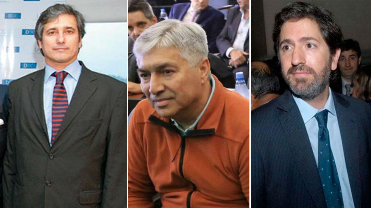De izq. a der.: Marcelo Ramos, financista y supuesto testaferro de Lázaro Báez (centro). A la derecha, el juez Sebastián Casanello.