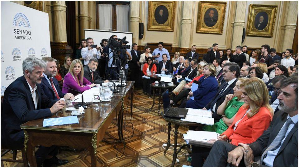 El Senado debatió en comisión sobre la intervención del Poder Judicial en Jujuy.