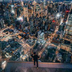Adrenalina pura. Una pared de vidrio es el límite entre Edge y el precipicio.